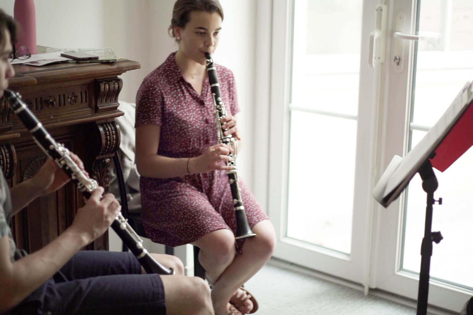 Répétition en salle de musique - Foyer étudiant Les Enfants des Arts